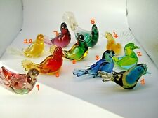 Vintage Murano Barovier & Toso sommerso glass love bird no.9 of collection of 10