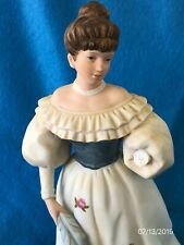"""Vintage Homco Porcelain Victorian Lovely Lady Figurine #1463 """"Belle of the Ball"""""""