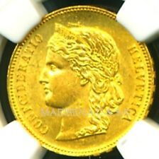 SWITZERLAND 1896 B GOLD COIN 20 FRANCS * NGC CERTIFIED GENUINE MS 61 * AMAZING