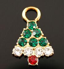 Crystal Christmas Tree Charm - Christmas