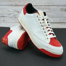Adidas Rod Laver Red White Tennis Shoes Sneakers RARE 046094 - Men's 17 UK16