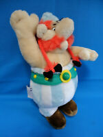 """VINTAGE 90's ❤️ 12"""" tall OBELIX soft PLUSH toy ❤️ ASTERIX the GAUL GOSCINNY 1994"""