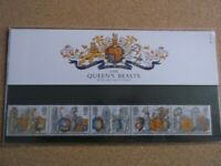 G.B. 1998 The Queen's Beasts on Royal Mail First Day Cover,