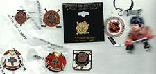 NHL Florida Panthers Vintage 6 Pin/1 Lil Sports Brat Keychain Lot OOP Hockey