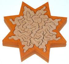 Holz-Puzzle Stern orange, ca. 30 Teile, knifflig, schwierig, Unnerstall
