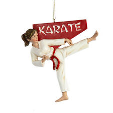 KURT S. ADLER FEMALE KARATE CHRISTMAS TREE ORNAMENT MARTIAL ARTS