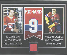 MAURICE RICHARD MONTREAL CANADIENS FORUM SEAT 8 X 10 COA