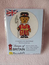 MOUSELOFT STITCHLETS CROSS STITCH KIT~  IMAGES of BRITAIN ~ BEEFEATER TEDDY  NEW
