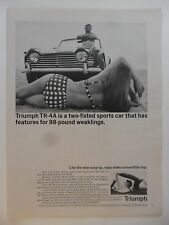 1965 Print Ad TRIUMPH Car Automobile Vehicle ~ Sexy Girl Polkadot Bikini