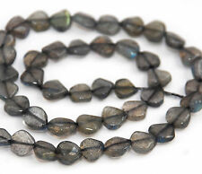 STRAND SPARKLY LABRADORITE HAND CUT HEART BEADS, 7 MM, GEMSTONE