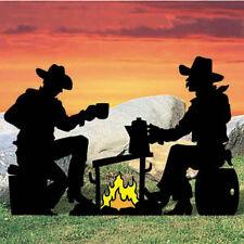 "**NEW** Lawn Art Yard Shadow/Silhouette - Campfire Cowboy Cowpokes 84"" x 56"""
