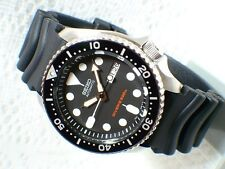 SEIKO AUTOMATIC DIVERS MENS WATCH SKX007 SKX007K1 BLACK DIAL RUBBER BAND NO BOX