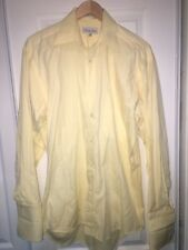 Christian Dior Mens Shirt Sz 14.5 32-33 Yellow Long Sleeve Button Down C8