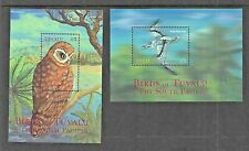 2000 Birds  2  Mini Sheets Complete MUH/MNH as issued