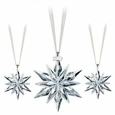 Swarovski 2011 Set annual snowflake (3x) ornament brand New in box with cert !