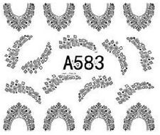 Nail Art Decals Transfers Stickers Lace Pattern (A-583)
