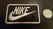 """Nike Black & White iron on Patch -  patches new Appx 3"""" x 2"""""""