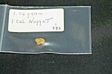 1.06 GRAMS CALIFORNIA PLACER GOLD NUGGET, 100% NATURAL, *FREE SHIPPING*.