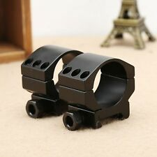 30mm Alloy Low Profile Scope Mount Rings Fits 20mm Picatinny Rail for Flashlight