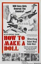 HOW TO MAKE A DOLL Movie POSTER 27x40 Robert Woods Jim Vance Bobbi West