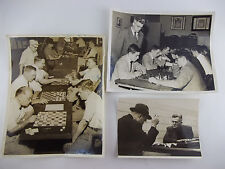 Lot of 1950's College Boys and Men Playing Checkers & Chess B/W Photo