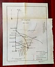 1900 Boxer Rebellion Sketch Map Hunting Park Nan-uan China Japanese Protection