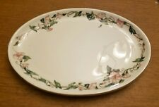 "VILLEROY & BOCH 12 3/4"" x 9 1/2"" OVAL SERVING PLATTER PALERMO PINK MORNING GLORY"