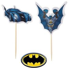 Batman the Dark Knight Fun Pix Cupcake Picks 24pcs Justice League Cake Toppers