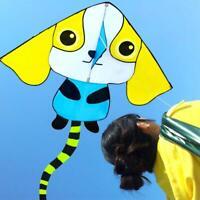 Cartoon Dog Kite with Single Line Kite Outdoor fun Sports Toys for kids NEW
