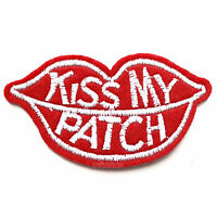 B Ware 28x14cm PAILLETTEN KUSS MUND LIPPEN APPLIKATION BÜGELBILD ROT PATCH KISS