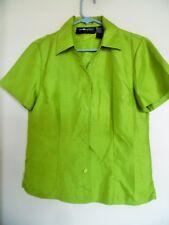 Sag Harbor Verde Poliéster Blusa Camisa Talla 8 Euc