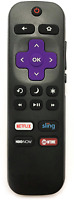 HITACHI 101018E0001 Roku TV Remote w/ TV Power Button and Volume Control