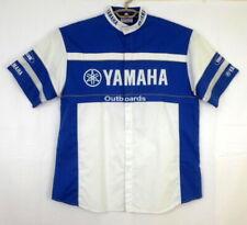YAMAHA Outboards Mechanic Work Shirt Short Sleeve Button Front L