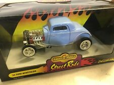 ERTL American Muscle 1934 Ford Hot Rod Coupe 1:18 Scale Diecast Model Car Blue