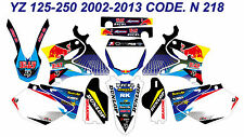 N218 YAMAHA YZ 125-250 2002-2013 Autocollants Déco Graphics Stickers Decals Kits