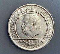 Germany - Weimar Republic 3 Reichsmark 1929 D  KM# 63   aXF