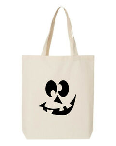 Crazy Eyes Tote Bag Shopping Grocery Shoulder Canvas Candy Halloween Reusable