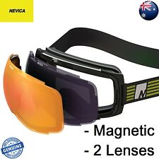 NEVICA MAGNETIC LENSES SKI GOGGLE - 2 x MAGNETIC LENSES == FREE EXPRESS POST ==
