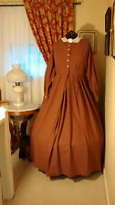 Civil War Reenactment Work Dress Size 26 Light Red Plaid