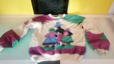 Funky multi colored sweater geometric pattern People unbranded Goldbergs hipster