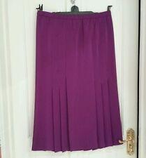 Skirt 14 Long Calf Length Silk-Like some Pleats Magenta/Pink/Purple Jacques Vert