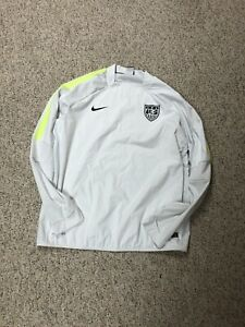 Nike Mens US Soccer Storm Fit Jersey Pullover Long Sleeve XXL/2XL White