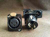 YS1364N-BG Of NEUTRIK 4Pin XLR Connector Female Plug Gold Plated HIFI Audio