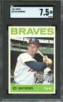 1964 TOPPS #35 EDDIE MATHEWS SGC 7.5 BRAVES HOF  *ADT4064