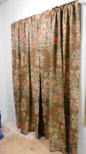 Ralph Lauren Harlington Floral Drapes-5 Panels Available-Heavy-50W x 84 L Lined