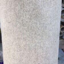 Large Handmade Carpet Remnant Roll End, Wool Eco Velvet LT Beige 5x3m RRP£1200
