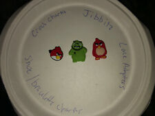 Angry Birds Lot Of 3 Crocs, Bracelet, Lace Adapter Charms, Jibbitz