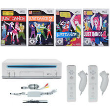 Nintendo Wii Konsole ►2x Remote & 2x Nunchuck Neu ►Just Dance 1-2-3-4