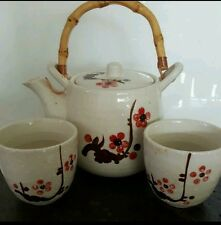 White Porcelain & Hand Painted tea pot set