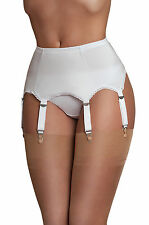 Suspender Belt Suspenders 6 SUSPENDER BELT WITH METAL CLIPS SIZE XL in White